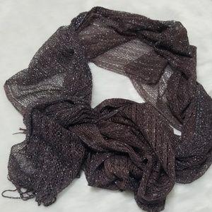 Gray silver sparkly long scarf/wrap